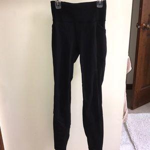 Lululemon black mesh panel leggings (discontinued)